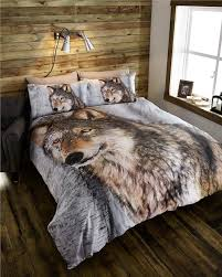 Wolf Bedding Set New Animal Print Duvet Sets Zebra Leopard Safari Wolf Quilt Cover
