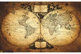 Vintage Map Wallpaper by Mural Old World Map 2