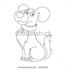 cartoon puppy vector illustration cute dog stock vector 246218848