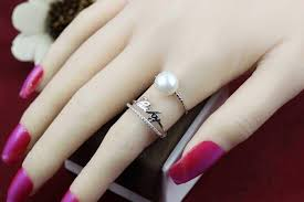 double pearl rings images 2018 english alphabet pearl ring double ring 925 sterling silver jpg