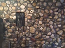 DIY Stone And Pebble Kitchen Backsplashes To Make Shelterness - Backsplash stone