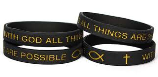 black bracelet rubber images All things are possible adult silicone bracelet jpg