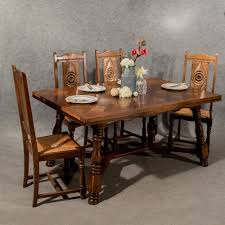antique oak french dining or kitchen table extends to seat 1