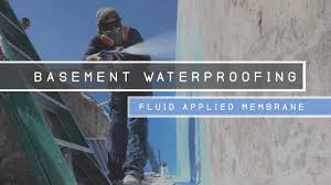 Interior Basement Waterproofing Membrane by Basement Waterproofing Fluid Applied Membrane Youtube
