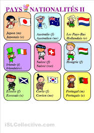 French Language Countries - french the names of countries and their people languages