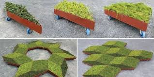 Planters On Wheels by Legge Lewis Legee Fractal Garden Planters