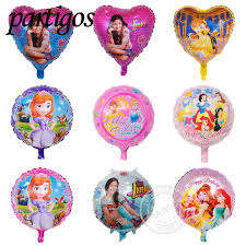 mylar balloons 10pcs 18inch happy birthday sofia princess balloons for girl