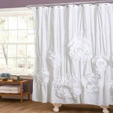 White Ruffled Curtains by Lush Decor Quartet White Shower Curtain At Hayneedle New Pearl
