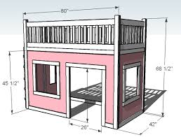 Ana White How To Build A Loft Bed Diy Projects by Ana White Playhouse Loft Bed Diy Projects