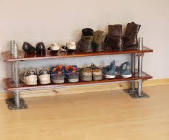 diy custom shoe rack storage and shelves plus curtain ideas jpg