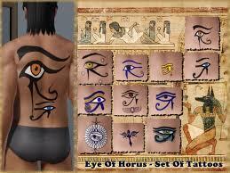 allison731 s eye of horus extended set of tattoos
