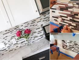 top 20 diy kitchen backsplash ideas random glass tile mosaic