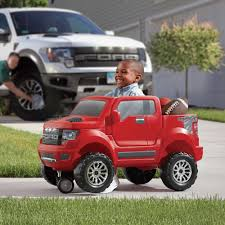 Ford Raptor F150 - 2 in 1 ford f 150 svt raptor red kids ride on step2