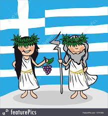 Greek Flag Background Illustration Of Welcome To Greece People
