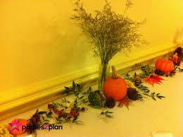 Fall Table Decorations by Tablescape Fall Table Decorations For Group Luncheon Parties2plan