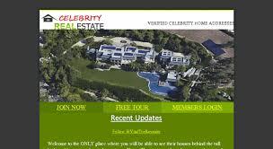 celebrity home addresses access celebrityaddressaerial com guaranteed celebrity home