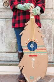 handmade charlottes thanksgiving diy turkey feather guitar