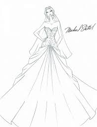 wedding dress design drawings sketch coloring page