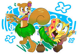 hula buds spongebob and sandy by reborngamergirl on deviantart