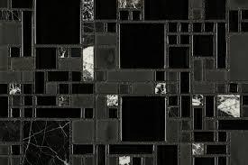 cabot mosaic tile glass stone blends black marble mini pattern