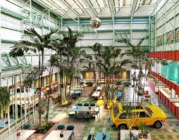 this incredible urban oasis cafe is filled with living trees and