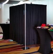 pipe and drape photo booth enclosure photobooth