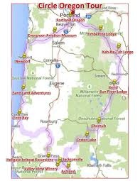 Crater Lake Oregon Map by Circle Oregon U0026 The Rose Festival Tap Into Travel