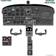 pa 34 senaca aircraft cockpit poster