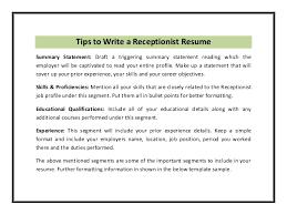 teacher resume professional skills receptionist receptionist job skills re enhance dental co