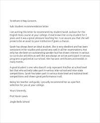 sample recommendation letter 9 examples in word pdf