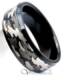 beveled ring 8mm men s black tungsten carbide camouflage beveled edge ring