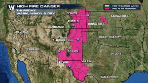 Weather Map Texas A Fiery March For The Great Plains Weathernation