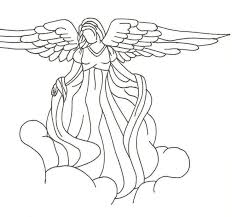 tattoo angel simple simple female angel silhouette in clouds tattoo design