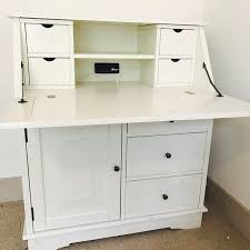 pottery barn secretary desk antique pottery barn white secretary desk vanity chairish