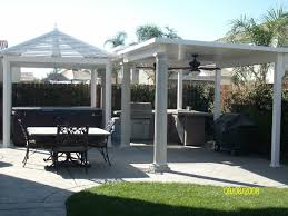 White Vinyl Pergola by Magnificent Vinyl Pergola Patio Covers Ideas In White