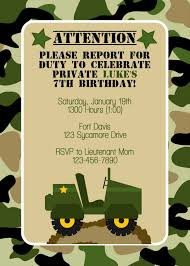 army birthday invitations army birthday invitations perfected with