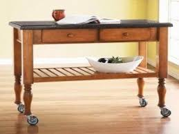 Small Table With Wheels Foter - Kitchen side table