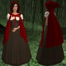 second life marketplace little red riding hood costume