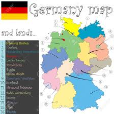 Bavaria Germany Map by Germany Map And Lands Against White Background Abstract Art