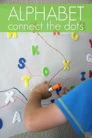 toddler approved giant alphabet sticker connect the dots game