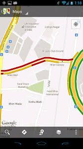 Google Live Maps Google Introduces Google Map Navigation And Live Traffic Updates