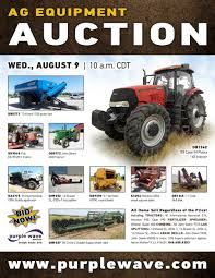 sold august 9 ag equipment auction purplewave inc