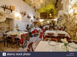 Cave Resturuant Side Of A Cliff Italy by Italy Apulia Polignano Mare Restaurant Stock Photos U0026 Italy Apulia