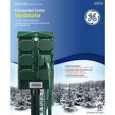 shop ge 6 ft 6 outlet 14 gauge outdoor extension cord with built