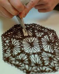 How To Make Decorative Chocolate Make A Chocolate Lace Cake Decoration Fit For A Queen