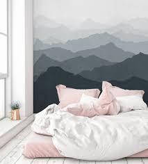 mountain mural wall art wallpaper grayish navy peel and stick mountain mural wall art wallpaper
