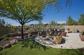 Mediterranean Backyard Landscaping Ideas by Scottsdale Landscaping Case Study Blooming Desert