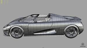 koenigsegg one drawing iartdrive studio 3d modeling visualization animation