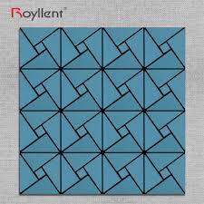 royllent home decor geometric blue mosaic acp interior metal