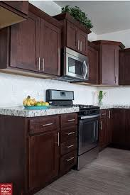 Rta Kitchen Cabinets Chicago by Dark Mocha Cabinets Against White Nice Contrast Kac Mocha